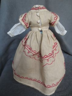 """Huret Dress Hat Blouse 12"""" Ultimate French Fashion Doll Sally Cutts Sewn 