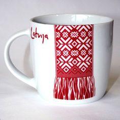 Souvenir from Riga&Latvia - a mug with national symbols!