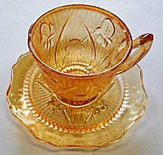 Jeanette Iris & Herringbone Carnival Cup & Saucer Set