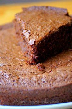 Gâteau fondant au chocolat aux blancs d'oeuf