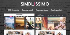 Simplissimo - Blog / Magazine WordPress Theme Simplissimo boasts popular features such as a responsive layout, several different home page styles and post layouts to choose from, and much more. Simplissimo's clean, contemporary design is guaranteed to wow and inspire your readers.