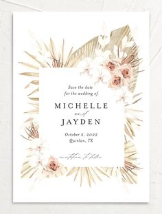 Neutral Bohemian Save the Date Cards Invitation Card Design, Rustic Invitations, Modern Wedding Invitations, Wedding Invitation Templates, Wedding Themes, Invitation Cards, Wedding Cards, Artsy Background, Flower Background Wallpaper