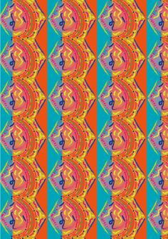 Lineas expresivas, inspirado en la figura y movimientos del pez mandarin creando asi una forma geometrica llena de mucho color que transmite alegria y suavidad por sus formas organicas