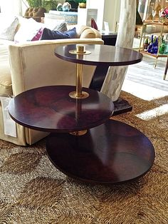 This Gin Table by Celerie Kemble for Henredon is a handsome versatile piece that feels both deco and Madmen. Of Lacoste rosewood with soft brass accents and lacquered raisin leather, it would add a touch of luxurious sensuality to any space. 1925 Eastchester Drive #HPmkt