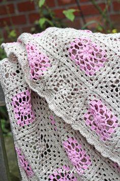 seidenfeins Dekoblog: Sommerleicht: zarte Granny - Decke * light summer granny blanked