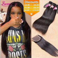 Hair Weft Closure ( Bang) Malaysian Virgin Hair With Closure Straight Human Hair Weave And Lace Closure Rosa Hair Products Bundles With Closure ** AliExpress Affiliate's Pin. Find similar products by clicking the VISIT button Deep Wave Brazilian Hair, Brazilian Hair Bundles, Virgin Hair, Real Hair Wigs, Natural Hair Twist Out, Body Wave Hair, Peruvian Hair, Hair Weft, Headband Hairstyles
