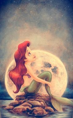 I got this as a puzzle in Disneyland and I just think it is super cute. Ariel is my favorite disney princess Ariel Disney, Disney Pixar, Princesa Ariel Da Disney, Walt Disney, Disney Little Mermaids, Disney And Dreamworks, Disney Love, Disney Magic, Disney Princess