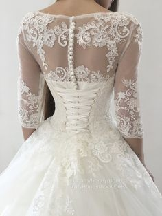 Custom Made Absorbing Lace Wedding Dress Ball Gown Wedding Dresses Scoop Sweep Train Lace Tulle Prom Dresses Lace Wedding Dress, Wedding Dresses 2018, Tulle Prom Dress, Perfect Wedding Dress, Mermaid Dresses, Bridal Dresses, Dress Lace, Wedding Dress Styles, Tulle Wedding