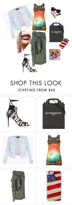 """Style matching"" by runwaycatalog ❤ liked on Polyvore featuring Jimmy Choo, Givenchy, Balmain, Faith Connexion, Casetify and LASplash"