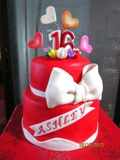 JnyJ (j-nee-j) cakes: sweet16 /ribbon tutorial