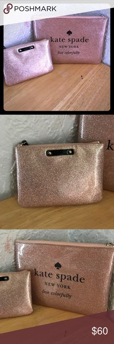 Kate Spade matching makeup bags Brand new! Very cute and fun! kate spade Bags Cosmetic Bags & Cases