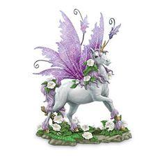 Beautiful Unicorns with Wings Blingee   Glow-In-The-Dark Sculptural Unicorn With Purple Metal Wings