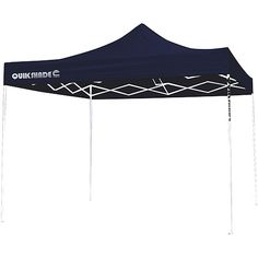 QuikShade Ultra Compact 10x10 Straight Leg Canopy (Blue Top / White Frame) (00085955067124) Quik Shade Canopy, 10' x 10', Midnight Blue/White: Provides 100 square feet of shade Designed to accommodate 8 to 12 people Quik Shade canopy offers 100-percent UV protection (UPF rating of 50+) All-steel, powder-coated frame is fully assembled Velcro fabric attachment at four corners Four height adjustments 12 x 23mm eaves Plastic-reinforced pivot Nylon feet protect patio or deck surfaces and offer…