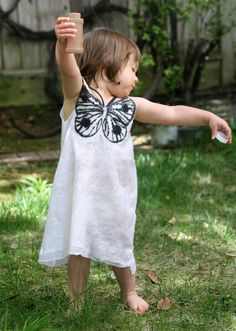 Nuno felted unique designer silk dress little girl OOAK art