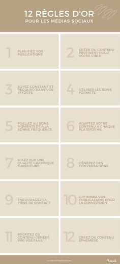 12 règles d'or en 2020 pour réussir sur les médias sociaux