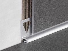Skirting boards and design - TT Trims Aluminum Uses, Tile Edge, Skirting Boards, Baseboards, Building Materials, Tile Design, Architecture Details, Door Handles, Hardware