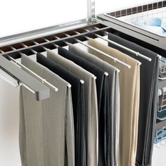 Wonderful The Container Store Gliding Pant Rack