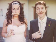 Le moustache, Stephanie Williams, bride and groom