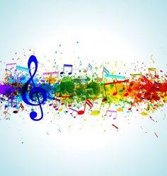 Musica di sottofondo. Spruzzi di colore della vernice. Gradient vettore. EPS10. Archivio Fotografico