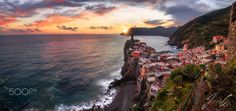 Beautiful Vernazza - Mid September 2016 sunset as seen in Vernazza, Cinque Terre