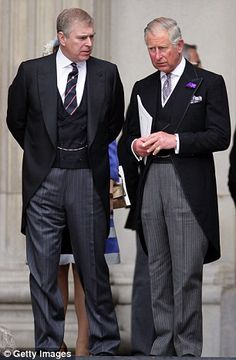 Royal rift: Princes Andrew and Charles look glum at the Queen's Diamond Jubilee service in 2012.  Numerous sources close to the Duke have told The Mail on Sunday that he has been 'cut off' by Charles who has 'left Andrew out in the cold' during his darkest hours.