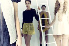 [Front view of openback white dress] -- irina heemann knit