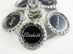 Personalized Wedding Party Wine Glass Charms  by MyPaisleyMarie, $15.00