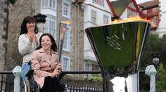 Rosie Smith at the Scottish Paralympic Cauldron lighting