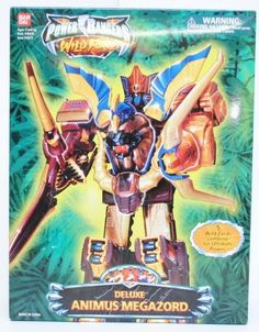 Amazon.com: Power Rangers Deluxe Animus Megazord Wild Force Action Figure: Toys & Games