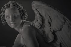 """Angel of love: Study from a statue sculpted by Edme Bouchardon: """"Cupid Cutting His Bow from the Club of Hercules"""". White marble. 1750. The Louvre Museum, Paris. Photo: 04/2011, Reworked: 11/2013 Photos: Olivier Daaram Jollant © All rights reserved #Statue #Sculpture #Sculptor #Art #Paris #France #Museum #Daaram #olivierdaaramjollant #Jollant #Musée #Paris #France #Marble #Marbre #Beauty #Angel #Love #Cupidon #Edmebouchardon #Cupid"""