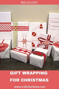 Easy creative DIY red gift wrapping ideas for Christmas with ribbon, felt, and washi tape. Christmas Activities For Kids, Kids Christmas, Christmas Crafts, Christmas Stuff, Christmas Cookies Gift, Christmas Gift Wrapping, Wrapping Ideas, Wrapping Gifts, Gift Wrapping Techniques