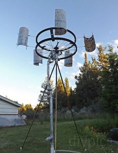 DIY Wind-Powered Water Pump style. Low tech items that are useful but don't necessarily depend on electronics & electricity to function. Check it out. A LOT of projects.