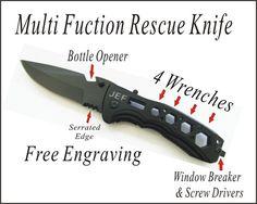 1 Wedding Groomsman Gifts Personalized Pocket Black Hunting Knives, Custom Engraved Pocket Knife, Engraved Pocket Knife Best Man Gifts- KSH