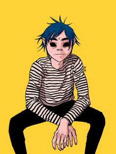 My favourite colour and my favourite singer 😍 Sunshine In A Bag, Gorillaz Fan Art, Character Art, Character Design, Vocaloid, Jamie Hewlett, Scott Pilgrim, Halloween Drawings, The Real Slim Shady