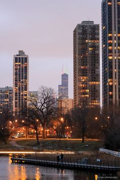 Chicago skyline from Lincoln Park Dec 2012. Pinned by #CarltonInnMidway - www.carltoninnmidway.com