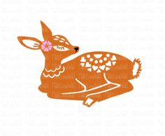 Folk style deer instant digital download papercutting file. Includes SVG, DXF & PNG for use with Silhouette and Cricut cutting machines by MabsAndWal on Etsy