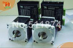 295.00$  Buy here  - High Quality!CNC Wantai 2 Axis Nema34 Stepper Motor 85BYGH450D-008 1090oz+Driver DQ860MA 7.8A 80V 256Micro Metal Cutting Milling