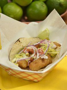 Ensenada-Style Fish Tacos recipe from Marcela Valladolid via Food Network