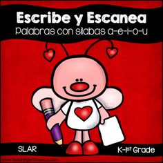 Escribe y Escanea: Palabras con Silablas (a-e-i-o-u) from Teaching With Nancy on TeachersNotebook.com - (6 pages) - Welcome to Teaching with Nancy! Your students will love learning to write 2 syllable words with this QR Code Write and Scan activity. Use them to play write the room or use it as an independent word