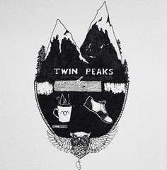 twin peaks illustrated - Pesquisa do Google