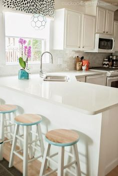 Kitchen progress-----Cookoo 4 Design blog. So lovely! Wall color: Valspar and it is eggshell Ultra White (7006-24)