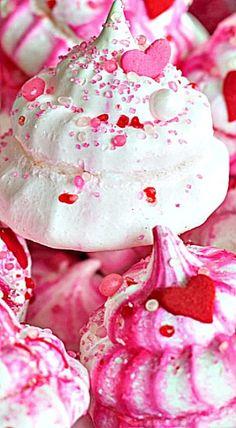 Valentine's Day Meringue Cookies ❊