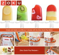 I am getting one of these this week- tired of buying boxes of random tasting popsicles- the kids can make their own healthy pops in minutes!