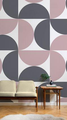 ideas geometric wall art diy pattern colour for 2019 Geometric Wall Paint, Geometric Wallpaper Murals, Geometric Decor, Room Wall Painting, Bedroom Wall Designs, Wall Patterns, Diy Wall Art, Colorful Interiors, Colourful Home