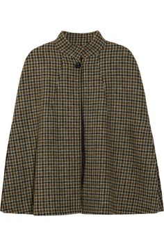 Hand-woven houndstooth wool cape / A.P.C.