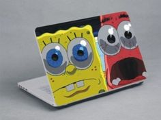 For all Spongebob fans! www.expresswallsuk.co.uk Laptop Skin, Spongebob, Bookends, Fans, Home Decor, Decoration Home, Room Decor, Sponge Bob, Interior Design