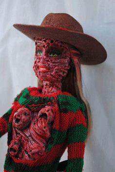 freddy krueger barbie - nightmare on elm street doll