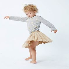 Perfect long sleeve top in in cream with stripes with gold spots from Fox & Finch Baby. Matches back with Fox & Finch Vegas leggings or skirt. Fox &a Tutus For Girls, Dress For You, Dress Skirt, Long Sleeve Tops, Little Girls, Vegas, Fox, Tulle, Stripes