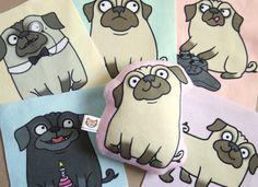 Fleece Print Pug Sewing Kit - Sew your own Pug Plush - DIY Kit. £10.00, via Etsy.