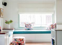 Bright reading / chill out corner  by Claire Stevens Interior Design